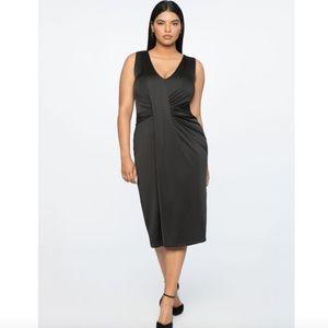 NWT Jason Wu & Eloquii Black V-Neck Drape Dress 28